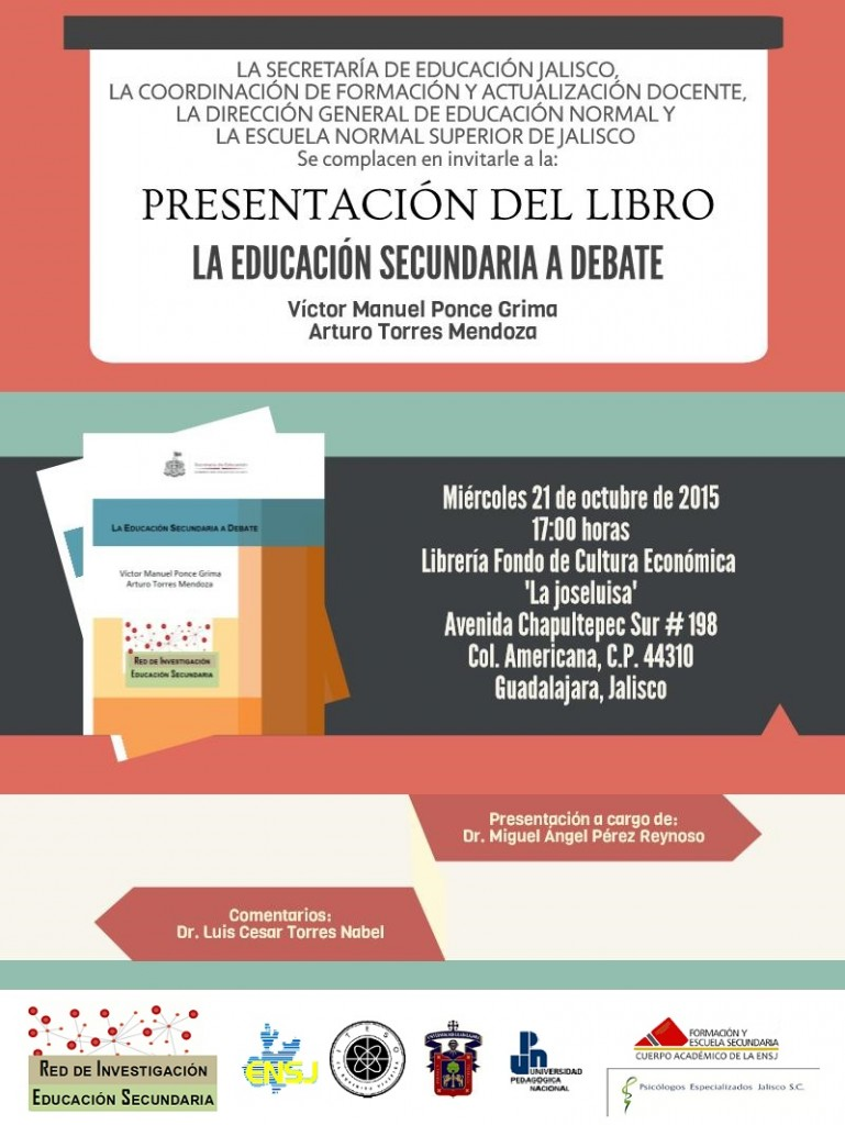 Presentación libro La educación secundaria a debate